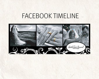 FACEBOOK banner black swirls Facebook timeline psd template - fully editable