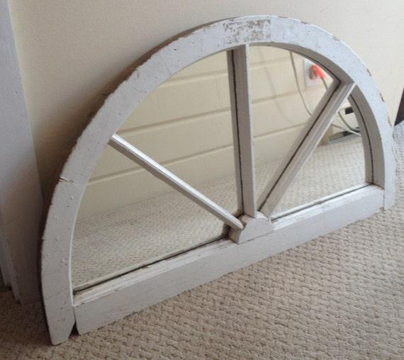 Antique Half-Moon Mirrored Window