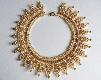 Necklace Handmade - Original filigree necklace - Bead weaving - unique