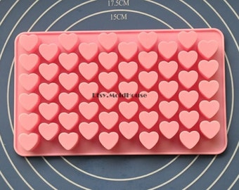 Small Hearts Flexible Silicone Mold Cake Mold Chocolate Mold Cookie Mold Icing Mold Polymer Clay Mold Resin Mold Soap Mold