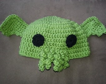 Crochet Baby Cthulhu Hat