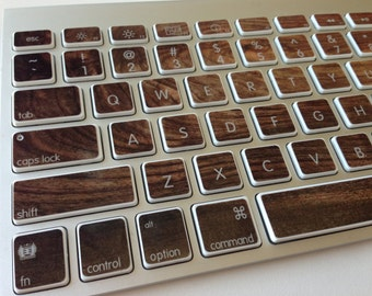 Black Walnut Wood iMac, MacBook Pro, and MacBook Air Keyboard Protective Skin