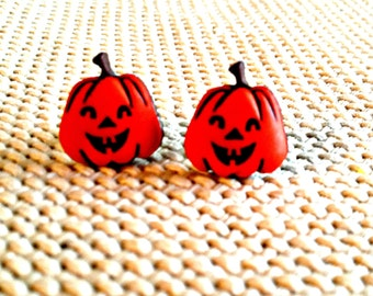Happy Pumpkin Post Earrings