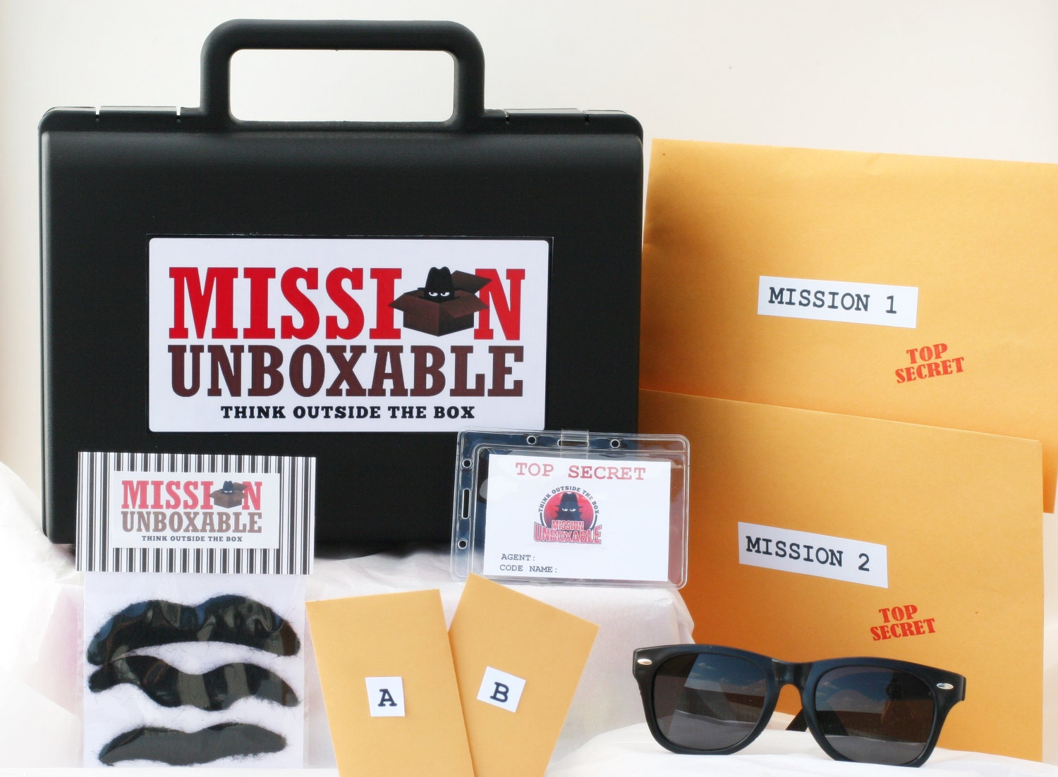 secret agent spy gear mystery party disguise by missionunboxable. Black Bedroom Furniture Sets. Home Design Ideas