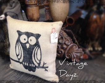 "16"" Owl Pillow Cover - Owl Pillow -Fall Pillow -Modern Pillow -Winter Pillow"