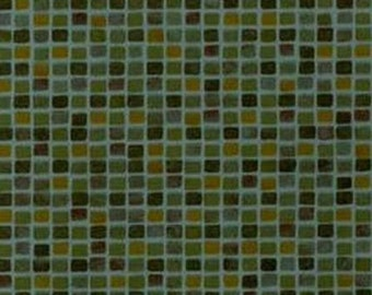 Blue Gold Blue Subway Tile - Geometric, Small Tiles, Contemporary, Squares - Wallpaper By The Yard - LX4072