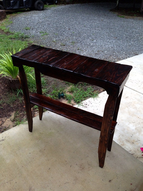 Foyer Table Etsy : Items similar to stained pallet foyer sofa table on etsy