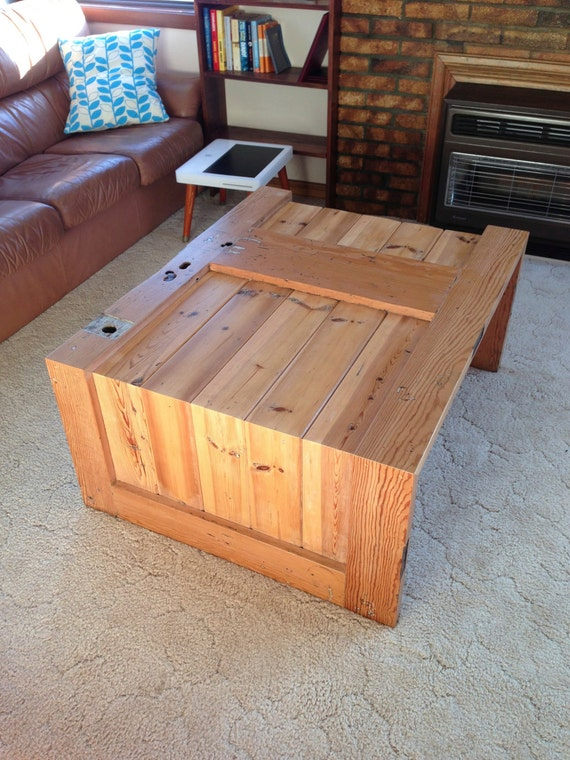 Items Similar To Cedar Coffee Table Made From A Beautiful Old Door On Etsy