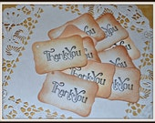 THANK YOU Favor Tag Set of 10