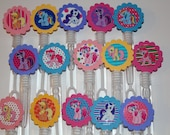 Items similar to my little pony mini bubble wand party for Mini bubble wands