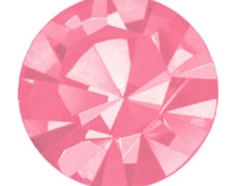 rose flatback crystals - one gross