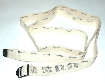 WWII Belt/Strap Made from Ammo Belt - Great for Steampunk and Costumes
