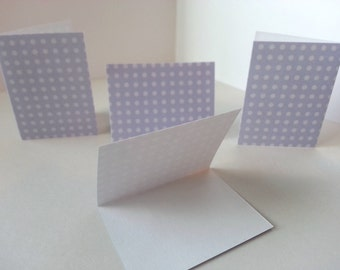 Sets of 4 - Purple with Dots Folded Gift Tags