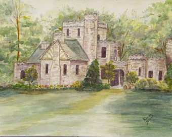 """This is a print of my original watercolor painting titled """" Squires Castle"""".  It is available in may sizes to fit your decor needs."""