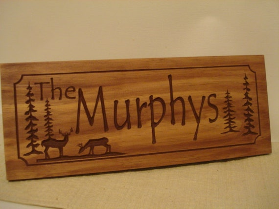Personalized Cabin Signs Rustic Family