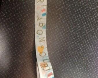 Bonjour Washi Tape  Paris Washi Tape Japanese Washi Tape  WT1265