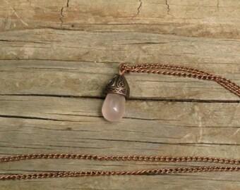 Rose Quartz and Copper Necklace