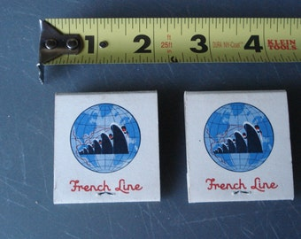 Vintage French Line Cruises Matchbooks in Pristine condition