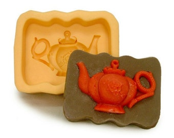 Teapot Soap Mold Flexible Silicone Mould For Handmade Soap Candle Candy Cake Fimo Resin Crafts polymer clay mold