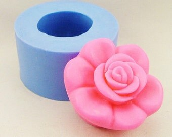 Peony Flower Soap Mold Flexible Silicone Mould For Handmade Soap Candle Candy Cake Fimo Resin Crafts