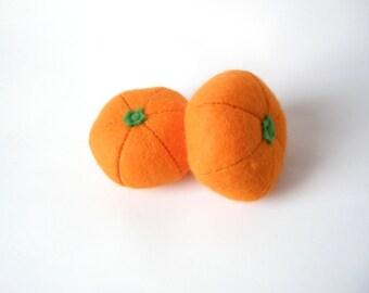 2 Felt Mandarines