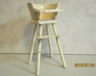 1920,s antique doll high chair