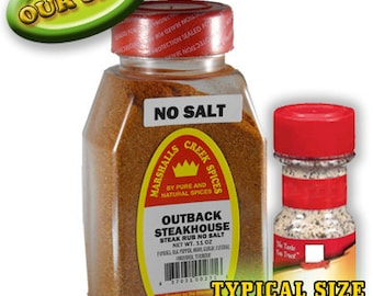 OUTBACK STEAKHOUSE STEAK seasoning No Salt 11 oz