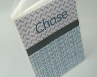 Baby Photo album, Personalized Photo Album, Chevron,  Grandparents gift, Grandmas Brag Book 020