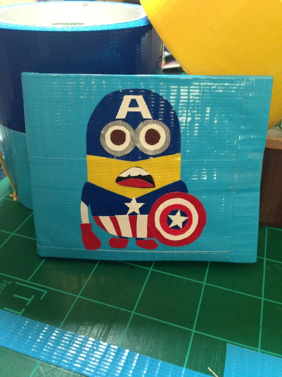 craft ideas with duct tape items similar to despicable me duct wallet on etsy 6324