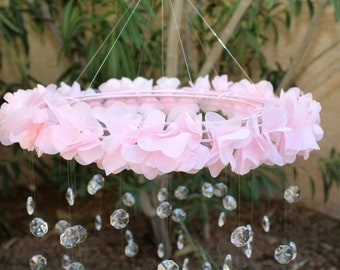 Chandelier baby mobiles flower baby mobiles by themobilemaven crystal baby mobile pink baby mobile flower baby mobile baby mobile aloadofball Choice Image