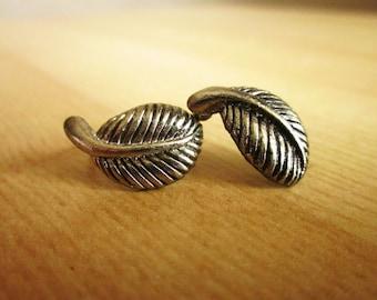Buy one get second half price* Elegant Vintage Old Silver Leaf Earrings Stud
