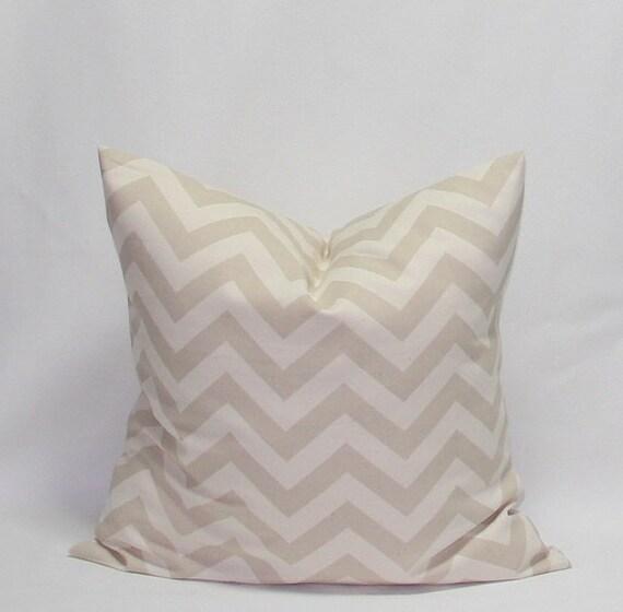 Khaki Pillows Natural Pillows Chevron Pillows 20 x 20 Khaki on