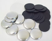 "1000 Tecre 1 Inch Complete Plastic Flat Back Button Parts - for use with Tecre 1"" Button Maker Machine"