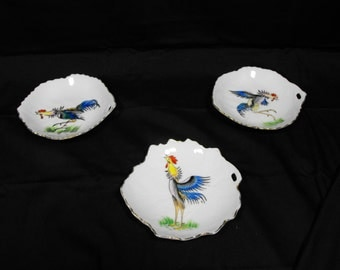 Rooster Ashtrays 1950's