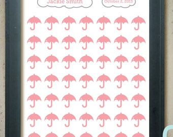 Bridal/Baby Shower Guest Book Alternative - Showers of Love