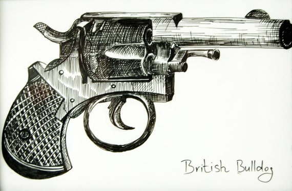 Unavailable listing on etsy - Dessin pistolet ...
