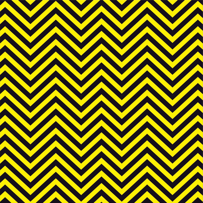 Yellow And Black Chevron Heat Transfer Or Adhesive Vinyl