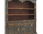 Items Similar To Black Distressed Library Wall Unit Large