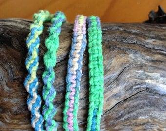 Handmade Hemp Friendship Bracelet or Anklet - Carousel