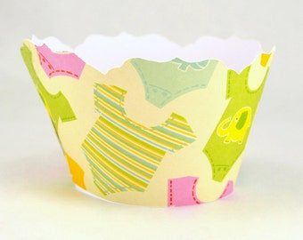 Baby Onesie Cupcake Wrapper