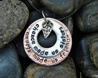 Sisters Necklace - Chance made us sisters...
