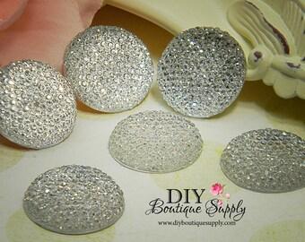 10pcs - 16mm Rhinestone Gems Sparkly Crystal Acrylic Flatback Embellishments Flower centers Headband Supplies 186008