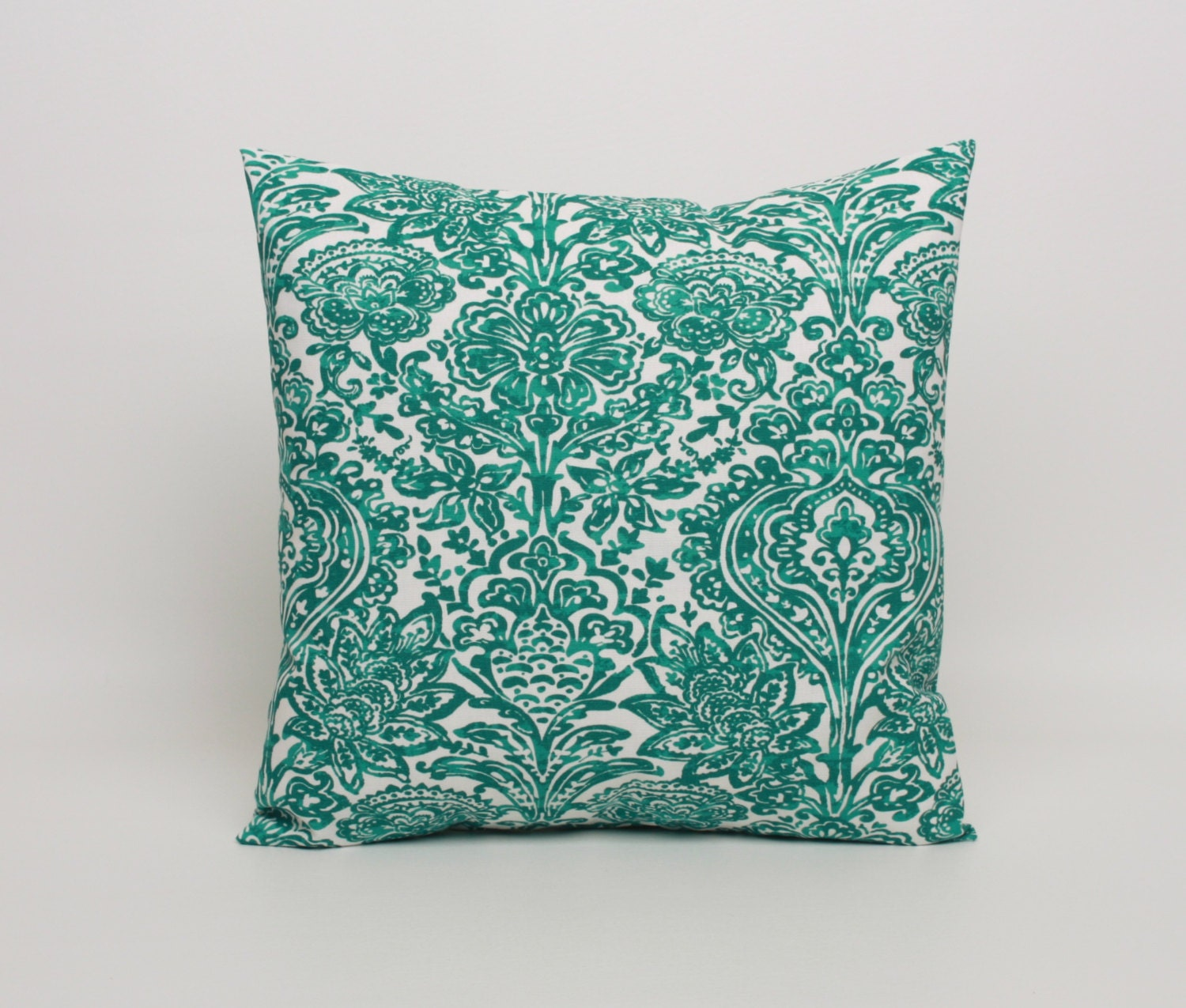 Jade Green Pillow Cover in Premier Prints Shiloh Pattern.