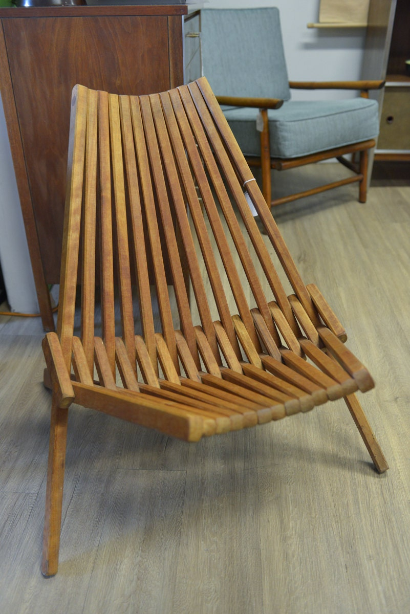 Sale Mid Century Danish Teak Folding Panamericana Chair