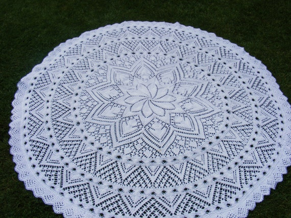 Knitting Patterns For Circular Shawls : Lily circular baby shawl knitting pattern in DK Instant