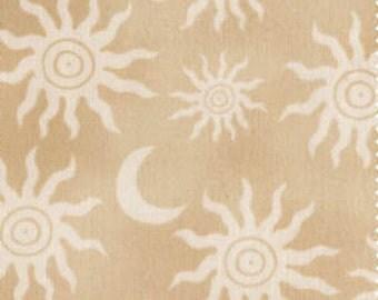 Tan Suns Fabric