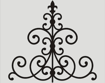Iron style Flourish STENCILS - Iron STENCILS- 5 Sizes- Wall Stencil, Sign Stencil, Fabric Stencil