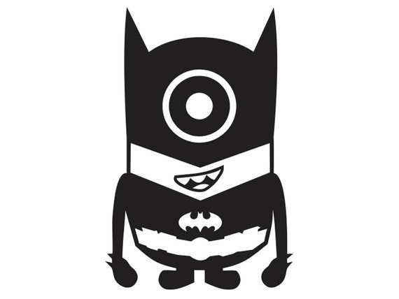 Batman Minion Vinyl Decal KID-ML5-1 by Stickeesbiz on Etsy