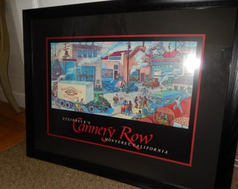 CALIFORNIA CANNERY ROW Print signed by Bruce Ariss