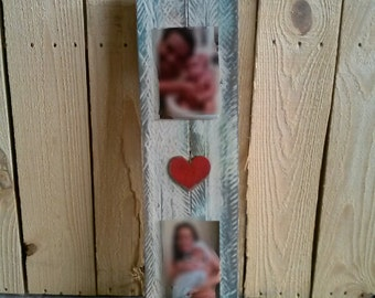 Reclaimed Wood Double Picture Board